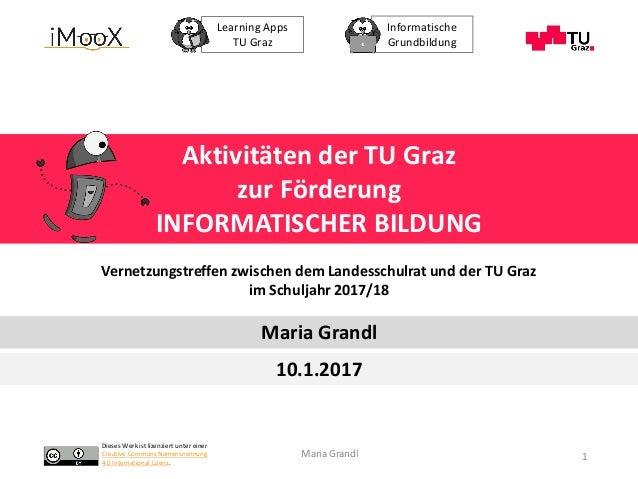 Dieses Werk ist lizenziert unter einer Creative Commons Namensnennung 4.0 International Lizenz. Learning Apps TU Graz Info...