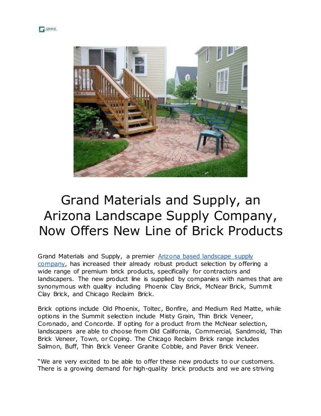 Grand Materials and Supply, an Arizona Landscape Supply Company, Now Offers  New Line of ... - Grand Materials And Supply, An Arizona Landscape Supply Company, Now …