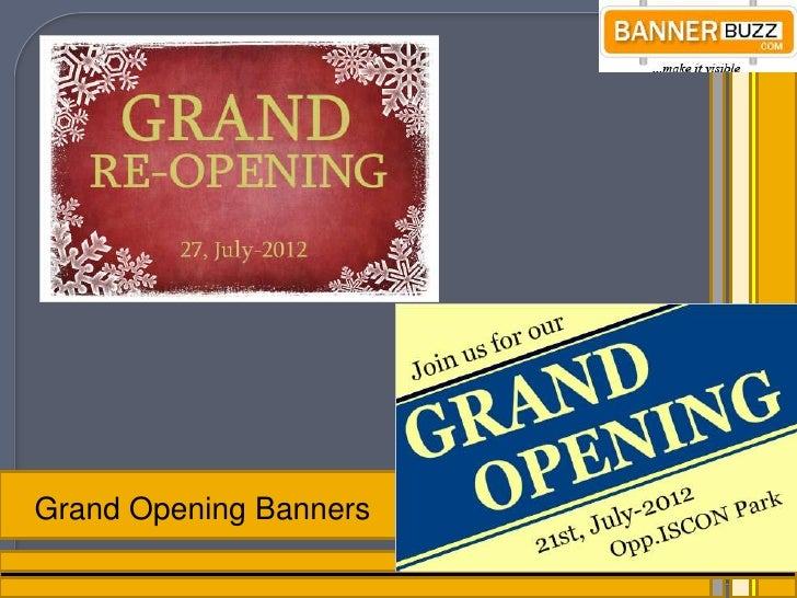 Grand Opening Vinyl Banners For Advertise Business - Vinyl business banners