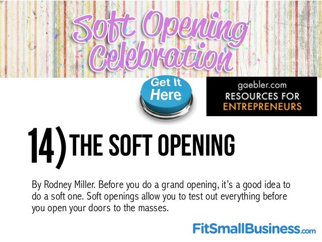 Top 25 Grand Opening Resources For Small Businesses