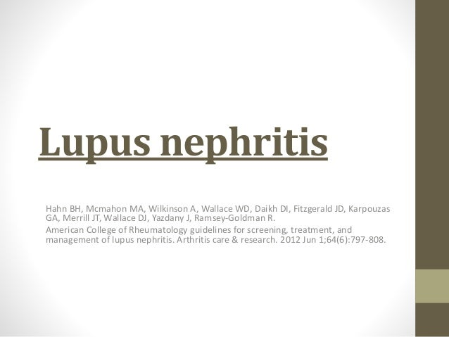 lupus nephritis research paper Lupus nephritis: review of the literature this paper reviews the in patients with proliferative lupus nephritis who wish to avoid the gonadal.
