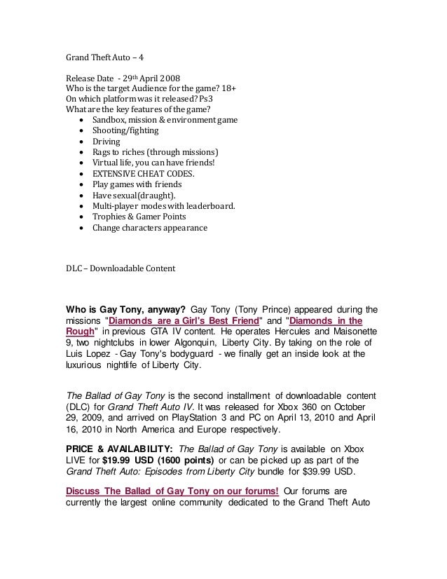 Gta iv dating guide ps3