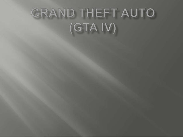    For this assignment i had to chose a game and    conduct research on it. I did my research on    Grand Theft Auto. I h...