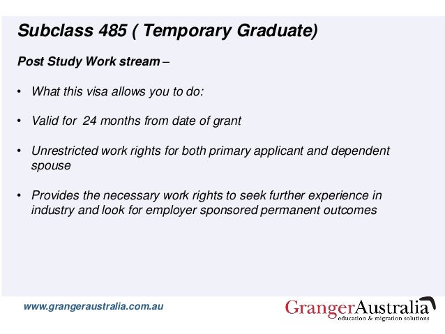 Immigration Update: post study work visa changes confirmed ...