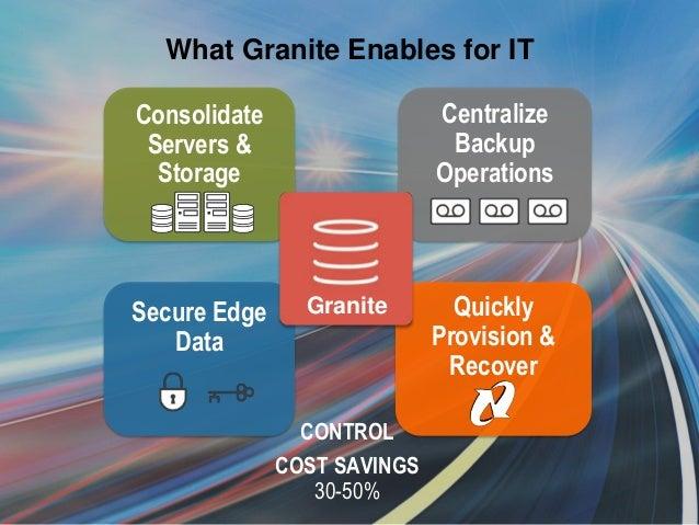 Granite Data Center : Riverbed granite