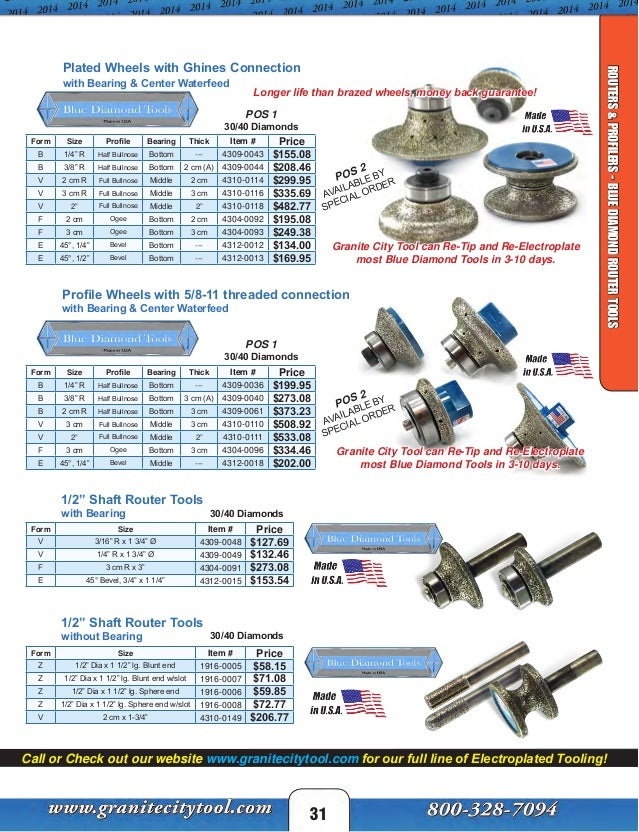 Granite City Tool Fabrication Catalog 2014
