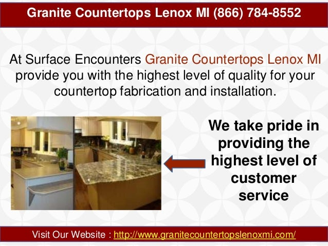 Granite Countertops Lenox MI 866-784-8552 Slide 2