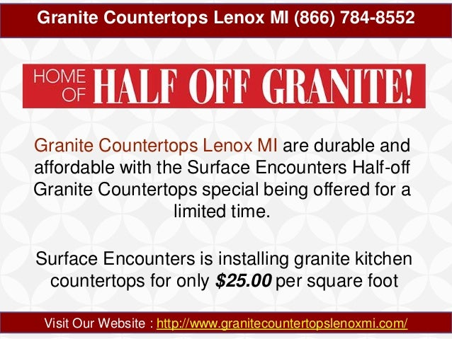 Granite Countertops Lenox MI 866-784-8552 Slide 3