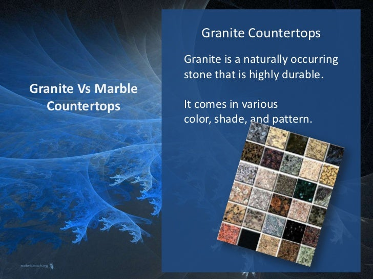 Granite Vs Marble Countertops