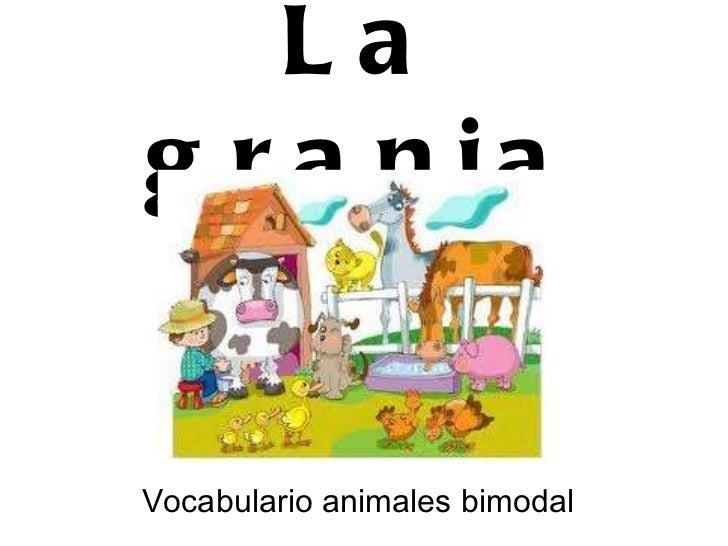 La granja Vocabulario animales bimodal