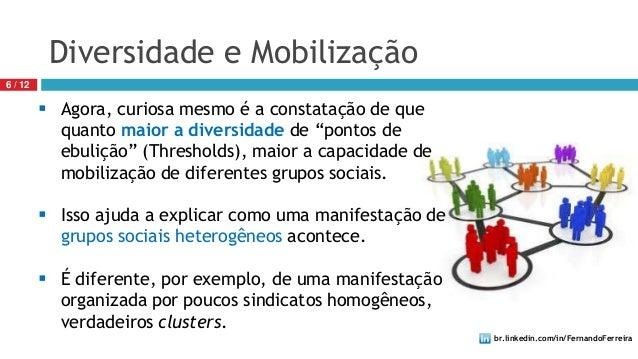 br.linkedin.com/in/FernandoFerreira6 / 12Diversidade e Mobilização Agora, curiosa mesmo é a constatação de quequanto maio...