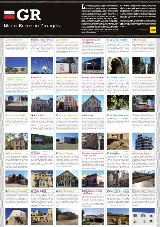 1. Institut de Bonavista: 2.Projecte del camí de la Coma: 3. CEIP Ponent: Grans Runes de Tarragona GR Les grans runes de T...