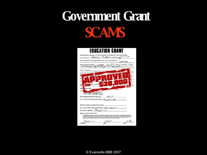 GOVERNMENT  GRANT SCAMS