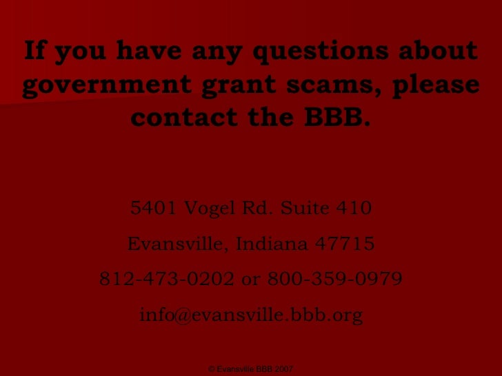 Grant writing service scams