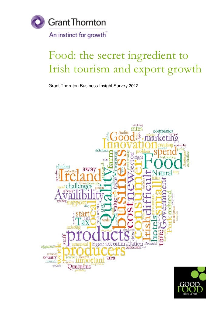 Food: the secret ingredient toIrish tourism and export growthGrant Thornton Business Insight Survey 2012
