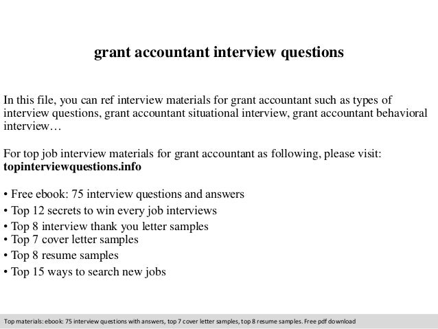 Great Grant Accountant Interview Questions In This File, You Can Ref Interview  Materials For Grant Accountant ...