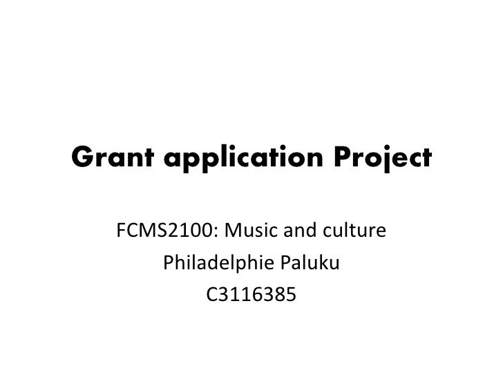 Grant application Project   FCMS2100: Music and culture       Philadelphie Paluku            C3116385