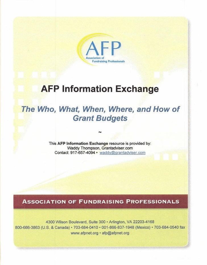 AFP                                    Association of                                         Fundraising   Professionals ...