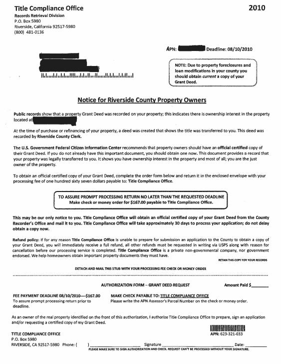Grant Deed Scam