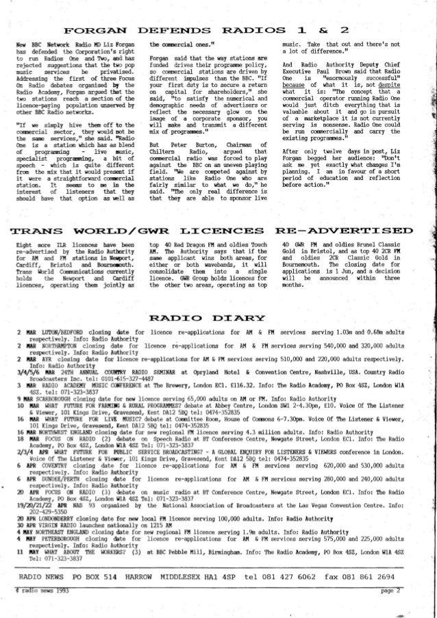 'Radio News: No. 16, 26 February 1993' by Grant Goddard Slide 2