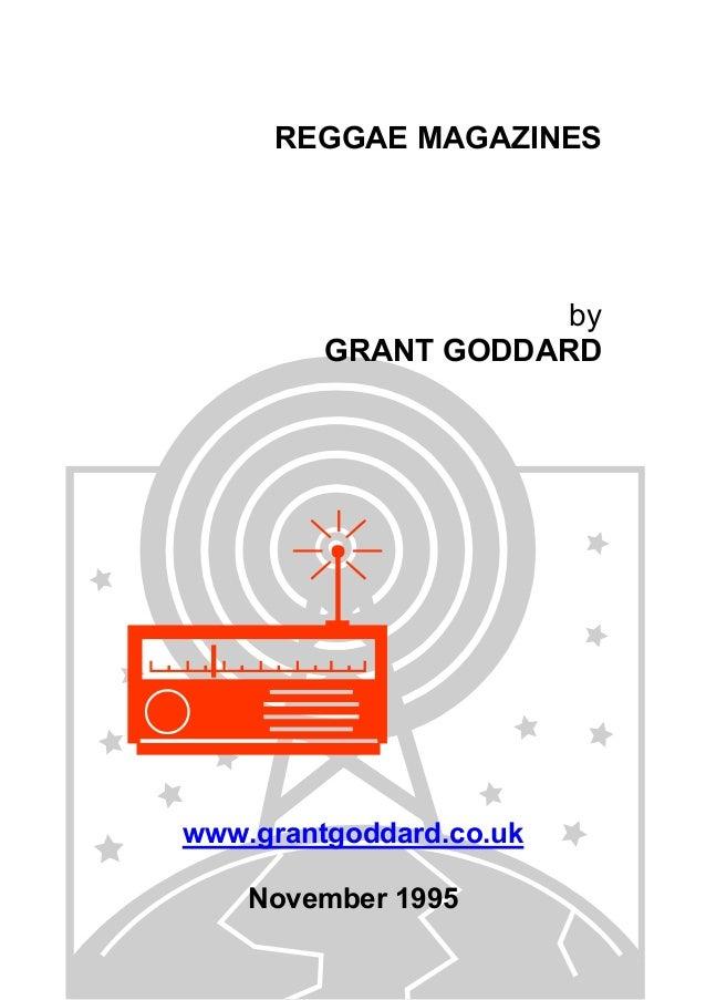 REGGAE MAGAZINES  by GRANT GODDARD  www.grantgoddard.co.uk November 1995