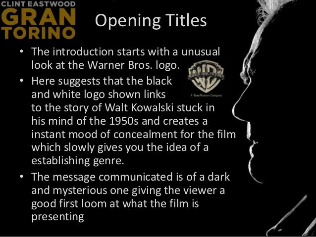 gran torino analytical essay Free essay: analytical essay - gran torino sam osborne q what kind of man is  walt kowalski examine character development throughout.