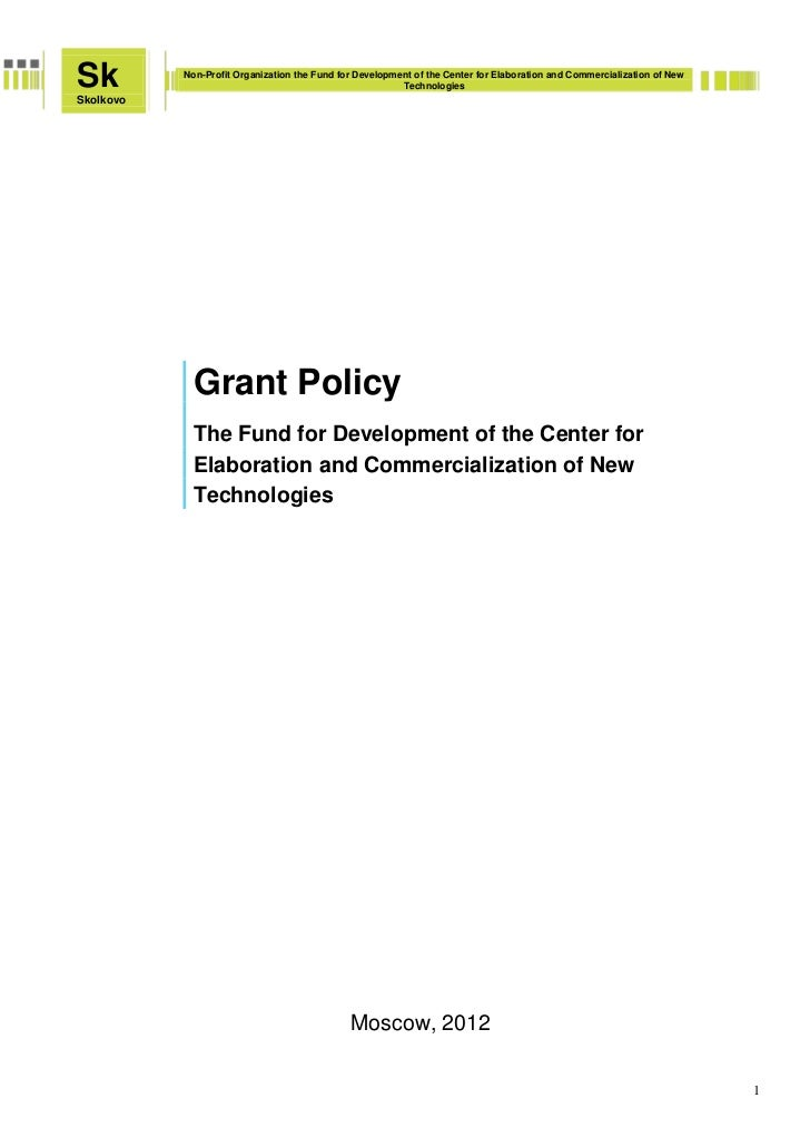Sk         Non-Profit Organization the Fund for Development of the Center for Elaboration and Commercialization of New    ...