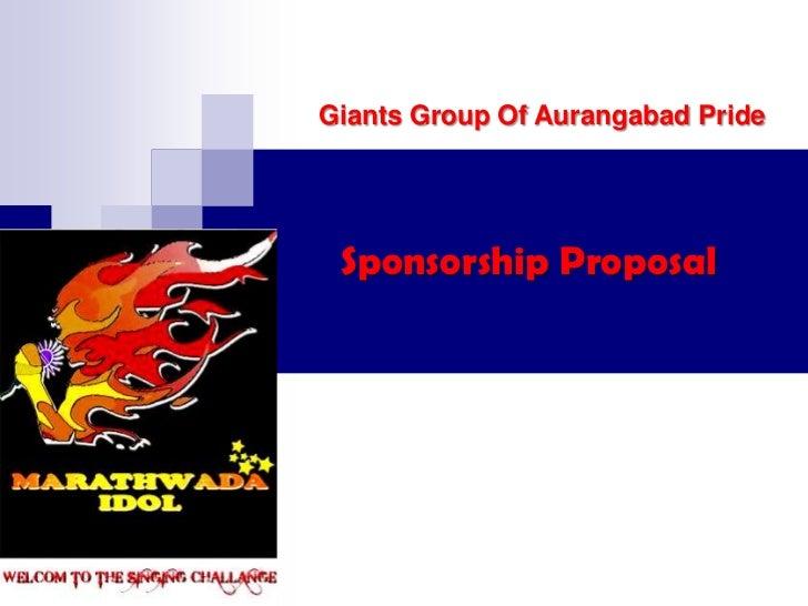 Giants Group Of Aurangabad Pride Sponsorship Proposal