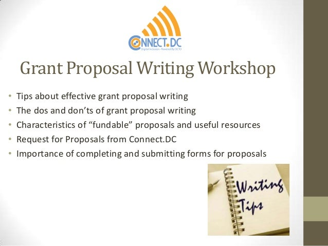 Tips for Writing a Good Grant Proposal