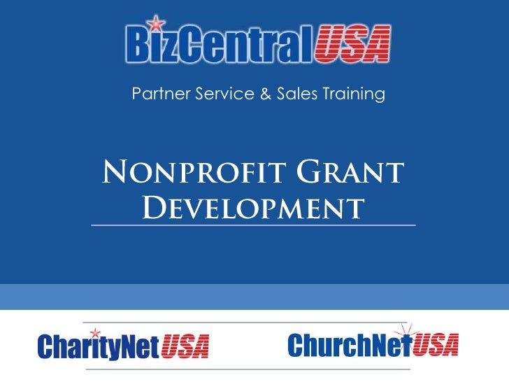 Partner Service & Sales Training<br />Nonprofit Grant Development<br />