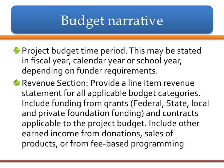 Budget narrative for grant proposal choice image project for Sample budget narrative template