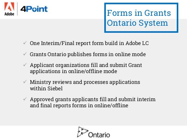 Grants Ontario Solution Based On Adobe Experience Manager