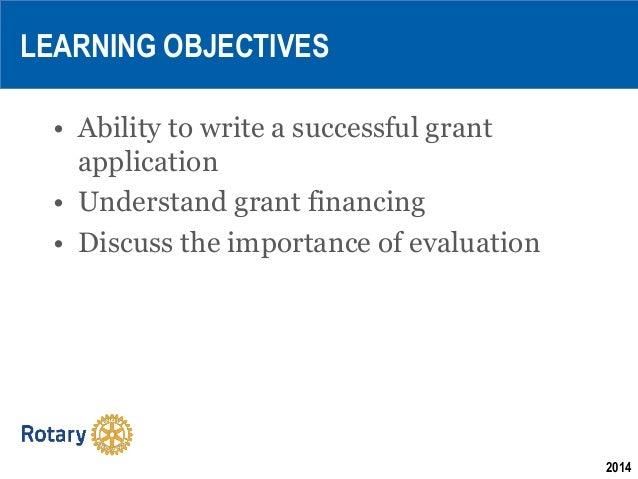 Learn to write grants