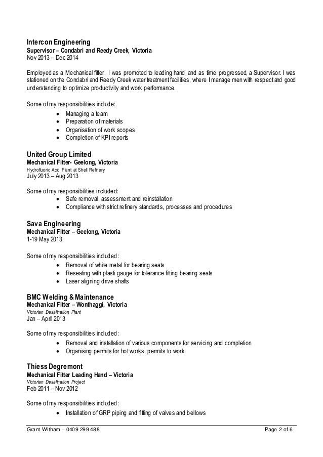 Perfect Victoria Engineering Resume Images - Administrative Officer ...