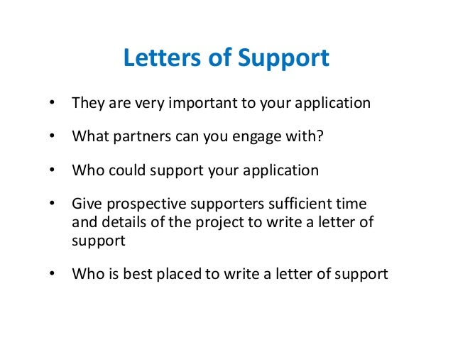 letter of support for grant. aff matching grant letter. letter of ...