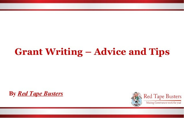 Grant Writing – Advice and Tips | Red Tape Busters