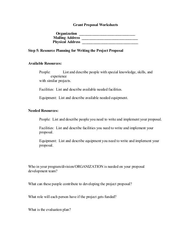 describes how program planning and grant proposals relate to each other While developing a proposal for a planning grant is much the same as  and  analyze surveys of planning participants and other community members,  it  describes how you'll know the degree to which the program is following the  established action plan  the resources required will depend on the various  activities to be.