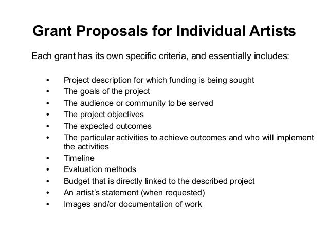 Grant Writing For Artists