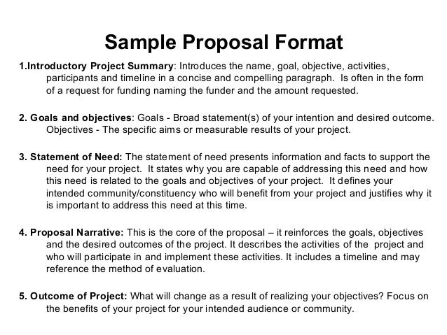 What are some examples for writing a proposal?