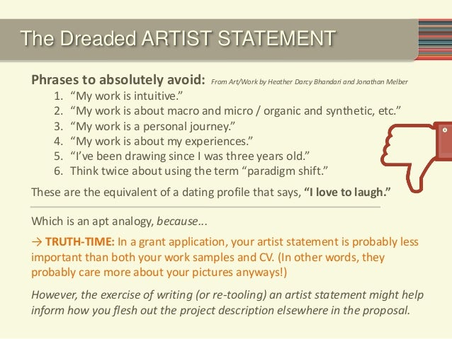 Writing a great grant 2014 (Individual Artists)
