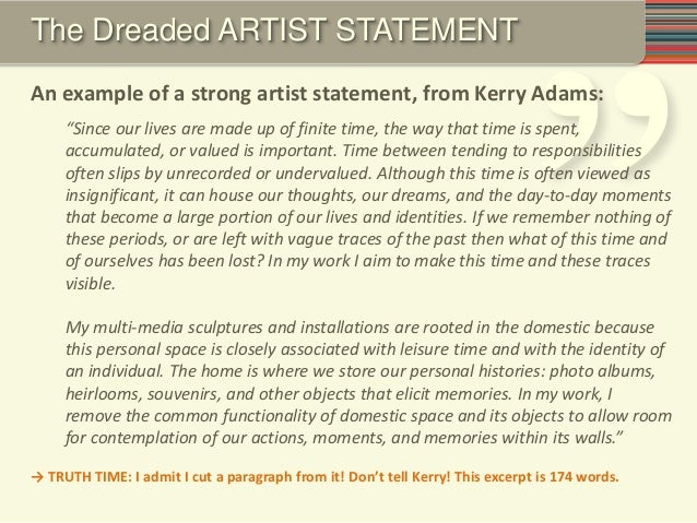 Artist Statement Template Artist Statement Examples  Free Pdf