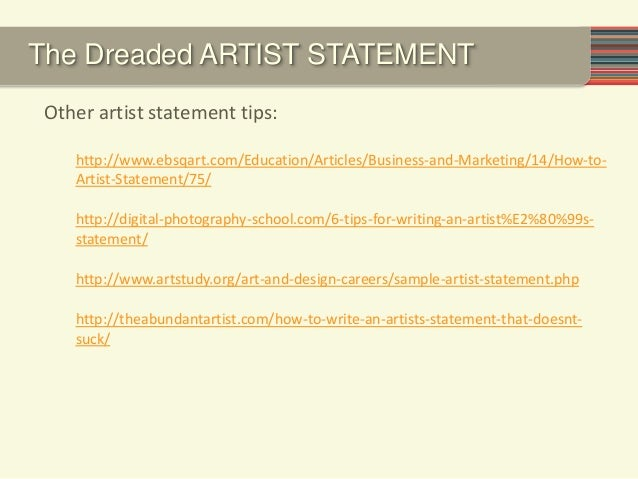 how to write a great artist statement