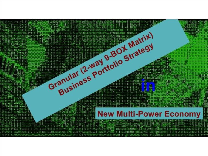 Granular (2-way 9-BOX Matrix)  Business Portfolio Strategy in New   Multi-Power Economy