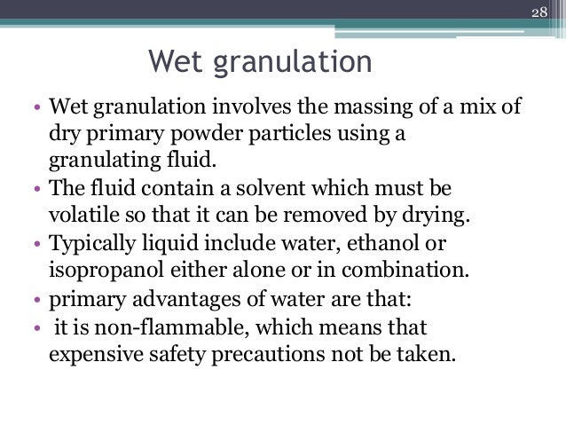 advantages of granulation