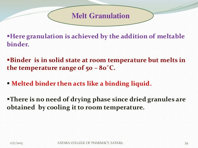 equipments used in wet granulation