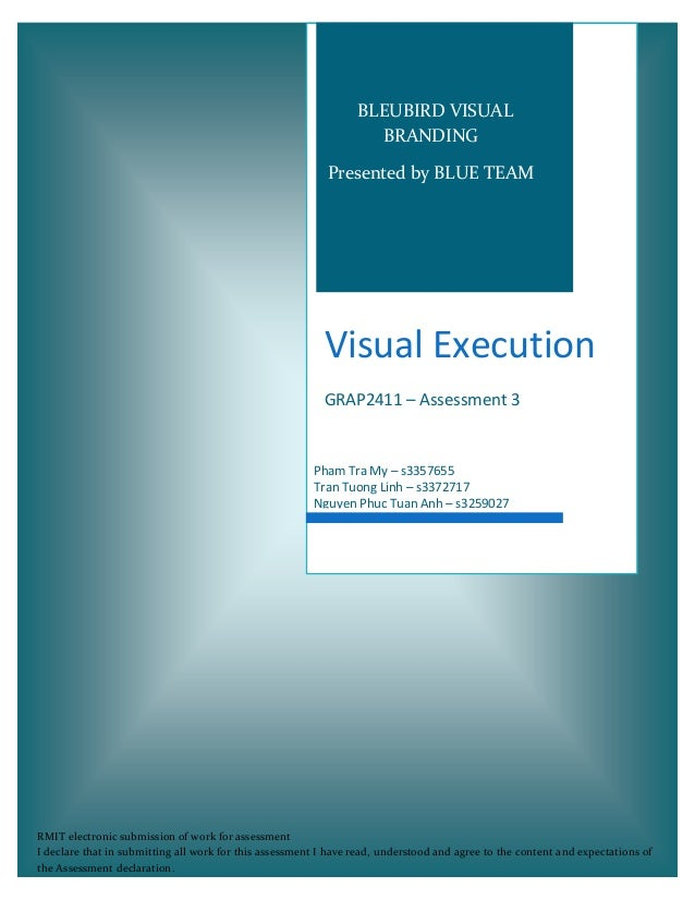 Visual Execution GRAP2411 – Assessment 3 Pham Tra My – s3357655 Tran Tuong Linh – s3372717 Nguyen Phuc Tuan Anh – s3259027...