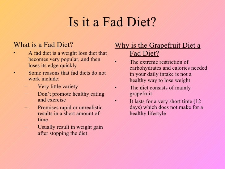 3 Is It A Fad Diet