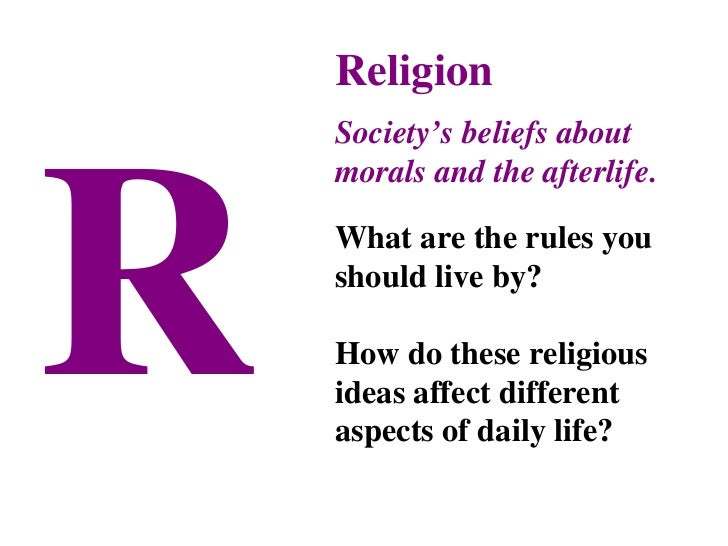 how religion affects society So, religion affects culture by simply being religion religion is a set of beliefs and culture is the rules or beliefs of a particular society monicaeunice | student.