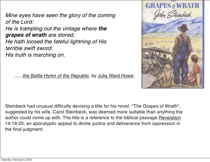 essays on grapes of wrath The following sample is devoted to the book the grapes of wrath our the grapes of wrath essay provides an overview on how this type of paper should be written this sample was created by a professional writer according to the academic standards you can also find other samples on our site like paradise lost essay sample.