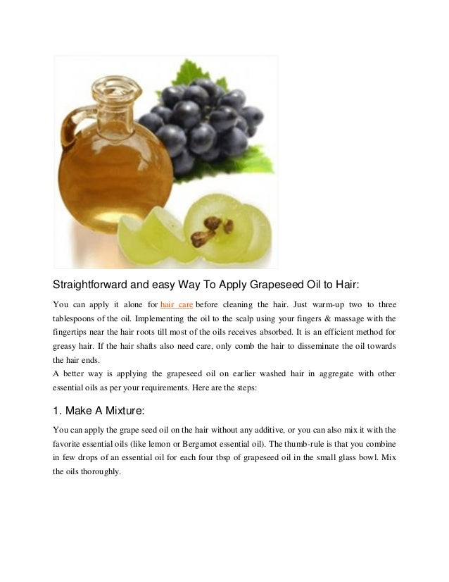 how to use grapeseed oil for hair growth